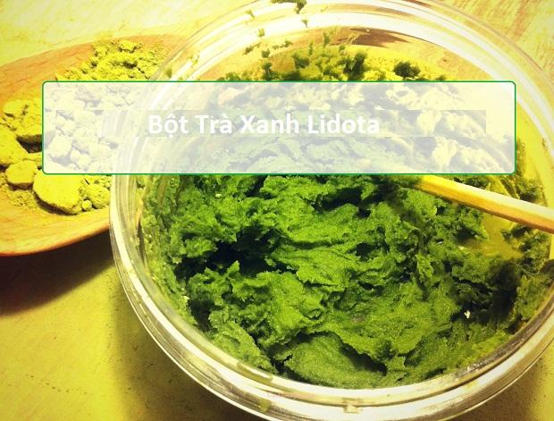 Mặt nạ bột trà xanh Lidota giúp trẻ hóa da như thế nào