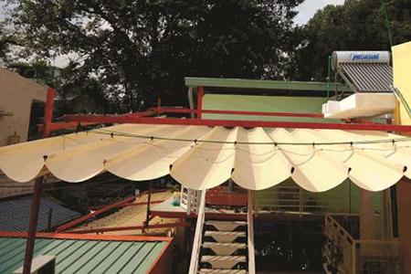 Giới thiệu công trình mái xếp nhà hàng Đào Tiên